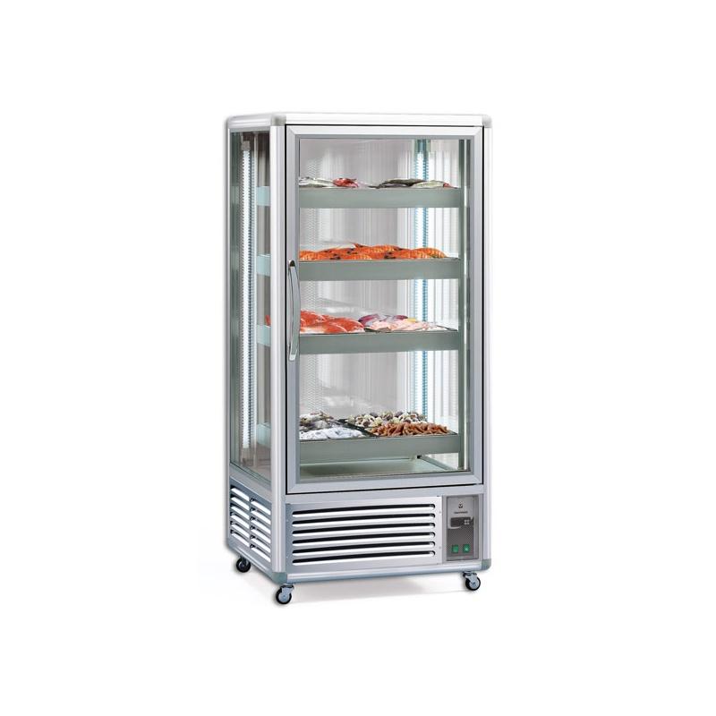 Vitrina frigorifica Tecfrigo EXPONORM 650, pentru peste si carne, capacitate 650 l, temperatura -2/0 ºC, argintiu