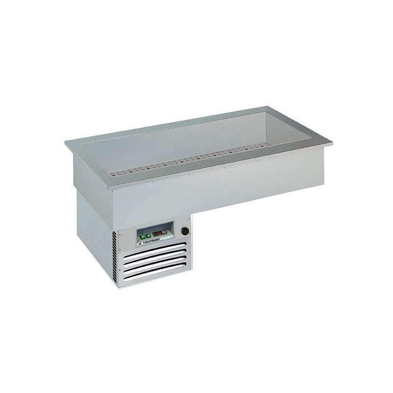 Vitrina frigorifica de expunere Tecfrigo ARMONIA 2, putere 430 W, temperatura +4/+10 ºC, argintiu