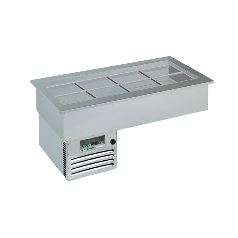 Vitrina frigorifica de expunere Tecfrigo ARMONIA 6 GN, putere 450 W, lungime 206.2 cm, +4/+10 ºC, argintiu