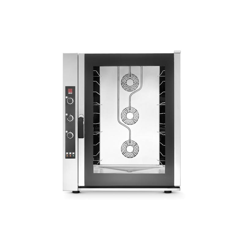 Cuptor electric gastronomic Eka Italia, EKF 1064 UD combi-steamer Evolution, 10 tavi, control electromecanic