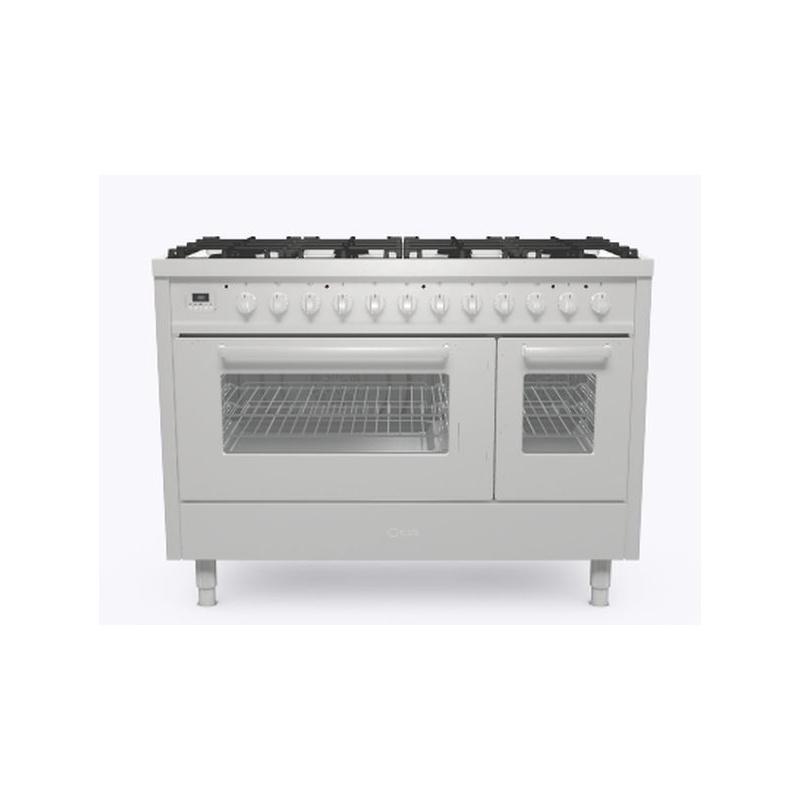 Aragaz ILVE Pro Line L12, 120x60cm, 8 arzatoare, cuptor dublu, aprindere electronica, siguranta Stop Gaz, inox