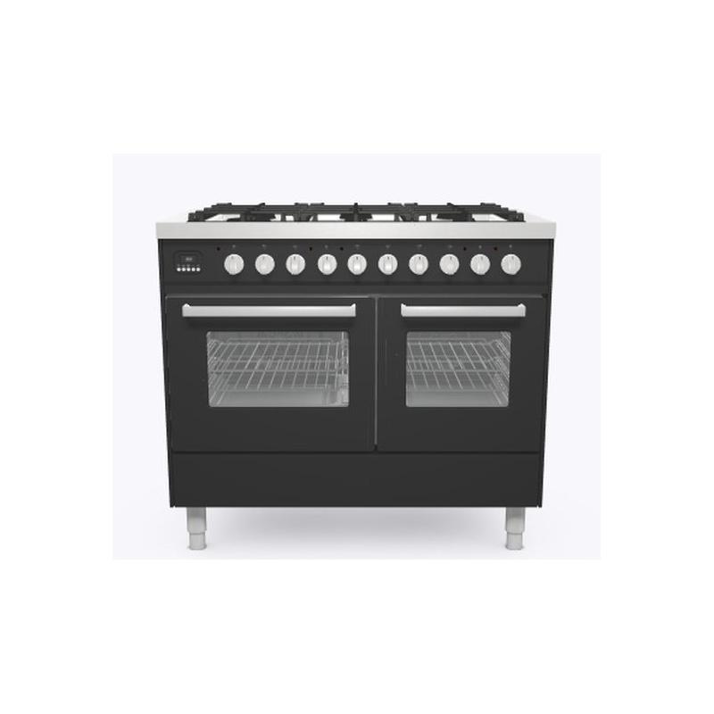 Aragaz ILVE Pro Line LD10, 100x60cm, 6 arzatoare , cuptor dublu, aprindere electronica, siguranta stop gaz, antracit