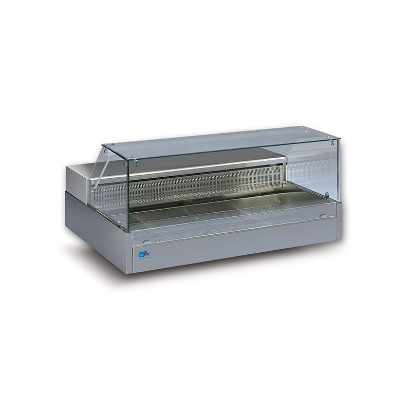 Vitrina frigorifica Tecfrigo SHOPPING 2700 COLD VD, putere 530W, temperatura -1/+6°C, inox