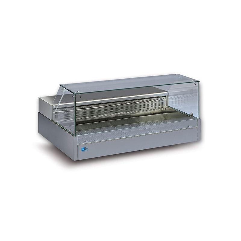 Vitrina frigorifica Tecfrigo SHOPPING 2000 COLD VD, putere 440W, temperatura -1/+6°C, inox
