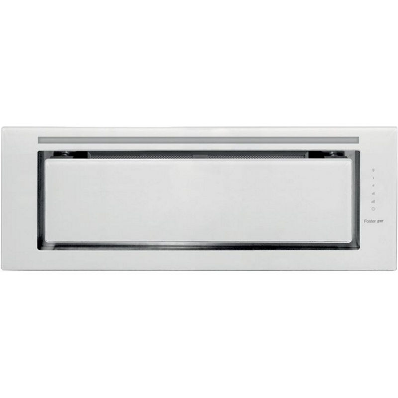 Hota incorporabila Foster HOOD FLAT WHITE 2513 191, 90 cm, 750 m³/h, 1 motor 275w, sticla alb