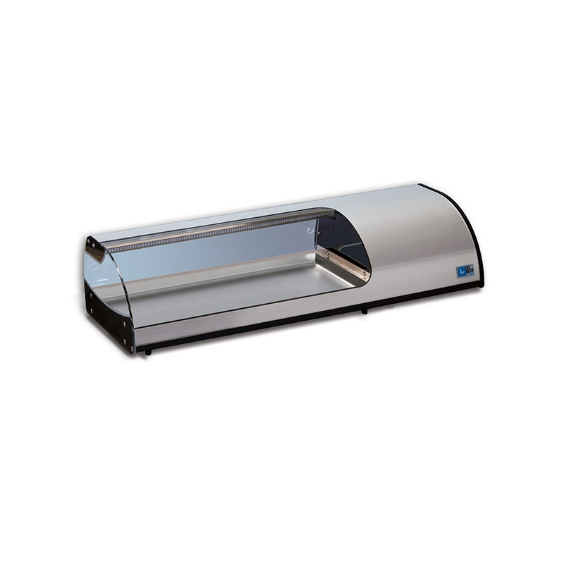 Vitrina frigorifica expunere ingrediente Tecfrigo Sushi 10 GN, putere 270 W, temperatura +1/+5, argintiu