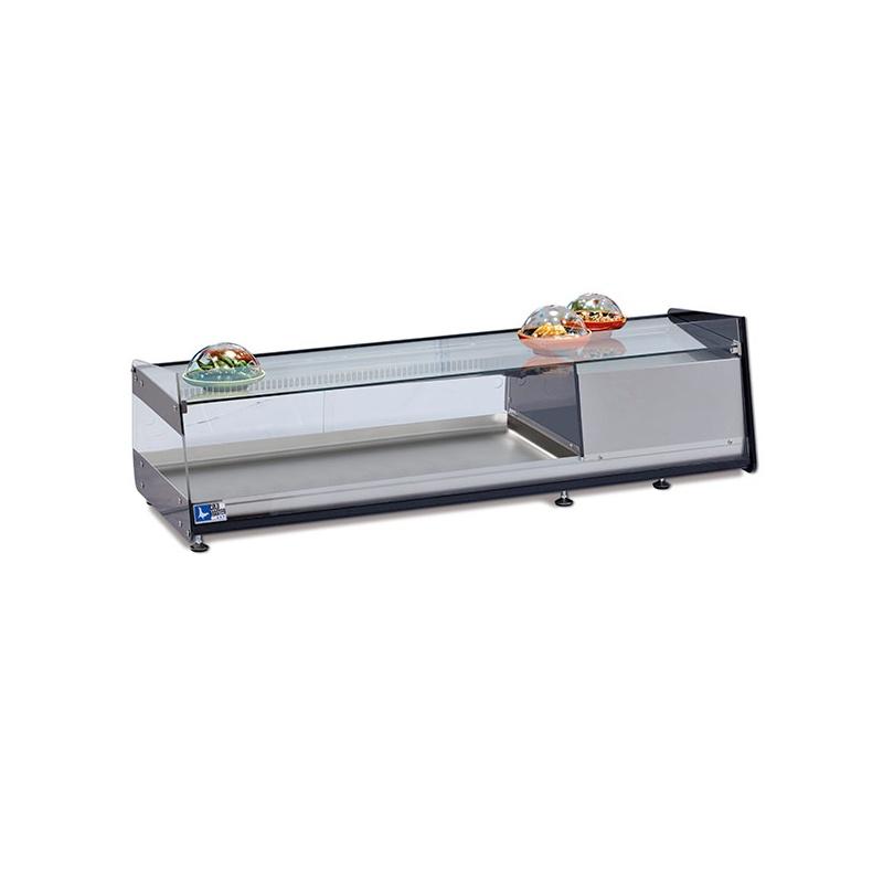 Vitrina frigorifica expunere ingrediente Tecfrigo Sushi 8 D PI, putere 270 W, lungime 179 cm, temperatura +1/+5, argintiu