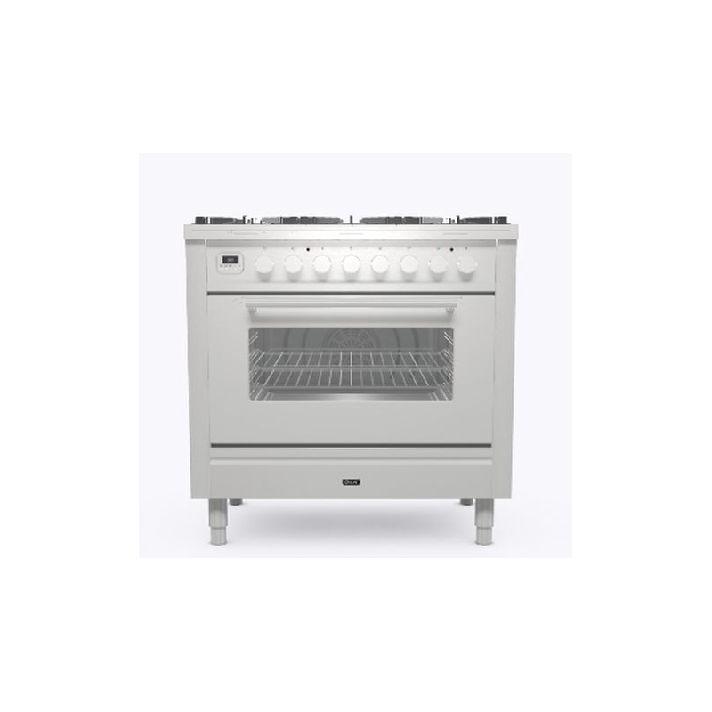 Aragaz ILVE Professional Plus P09W, 90x60cm, 6 arzatoare, cuptor electric, aprindere electronica, siguranta Stop Gaz, inox