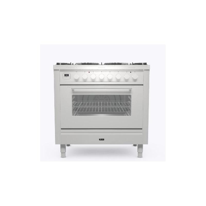 Aragaz ILVE Professional Plus P09W, 90x60cm,4 arzatoare+Fry Top,cuptor electric, aprindere electronica, siguranta Stop Gaz, inox