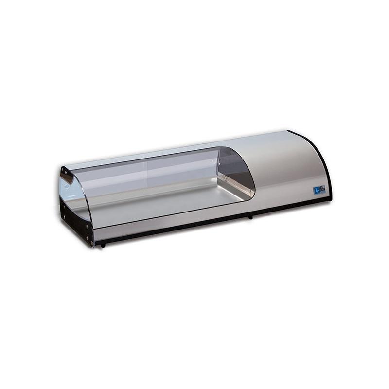 Vitrina frigorifica expunere ingrediente Tecfrigo Tapasi 8 PI SS, putere 266 W, lungime 179 cm, temperatura +3/+5, argintiu