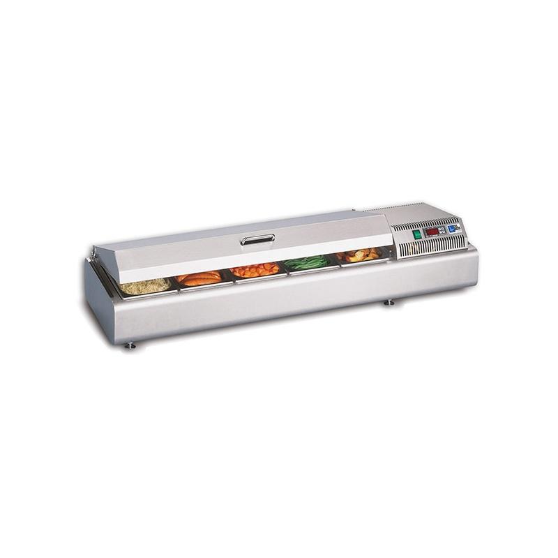 Vitrina calda expunere ingrediente Tecfrigo Gastroservice Dry 1600, putere 1400 W, lungime 155.4 cm, +30/+70°C, inox