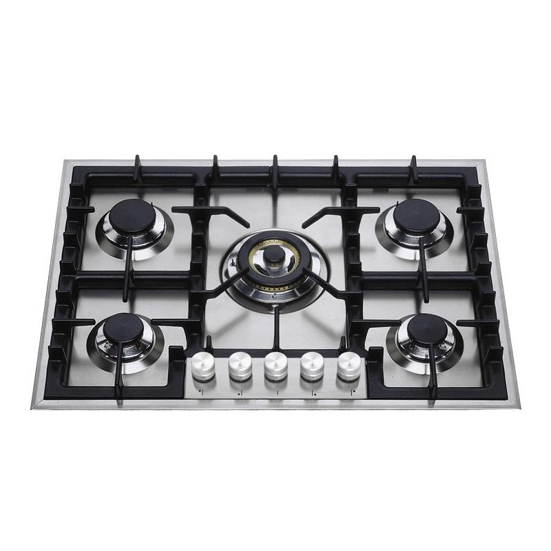 Plita incorporabila ILVE Professional Plus HP75, 70 cm, 5 arzatoare, aprindere electronica, siguranta Stop-Gaz, inox