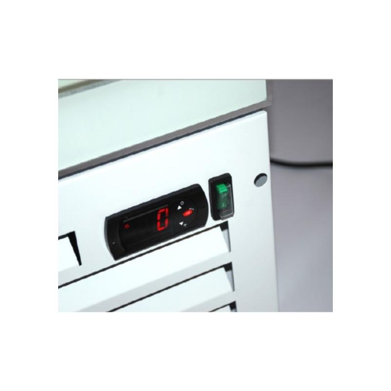 Vitrina frigorifica Klimaitalia Thin Cooler, capacitate 160 l, temperatura 0/+10°C, negru