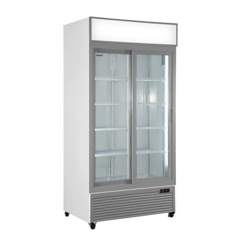 Vitrina frigorifica Klimaitalia CL 801 V2GC SL, cu caseta luminoasa, capacitate 534 l, temperatura 0/+10°C, alb