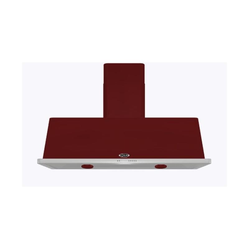 Hota decorativa Ilve Majestic AM150 ,150 cm, 1 motor, 4 viteze, 890 m3/h, clasa A, rosu burgundy