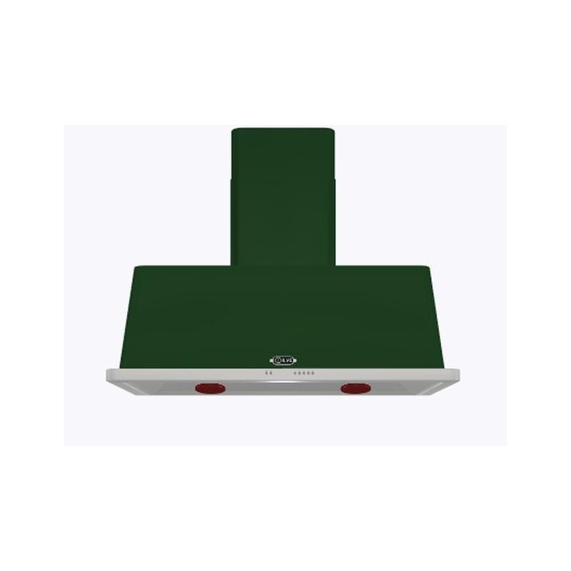Hota decorativa Ilve Majestic AM120 ,120 cm, 1 motor, 4 viteze, 890 m3/h, clasa A, verde
