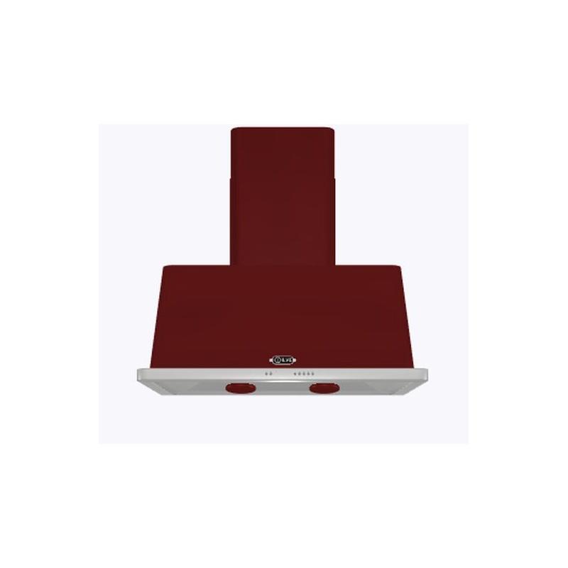 Hota decorativa Ilve Majestic AM90 ,90 cm, 1 motor, 4 viteze, 890 m3/h, clasa A, rosu burgundy