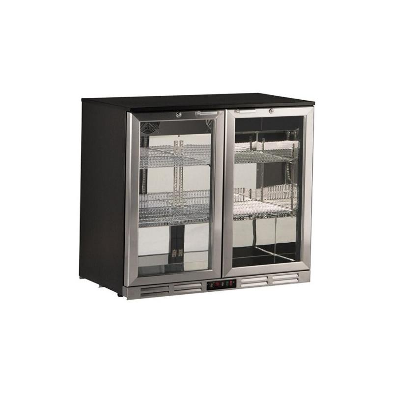 Vitrina frigorifica Klimaitalia S 185 XH, capacitate 185 l, temperatura 0/+10°C, negru