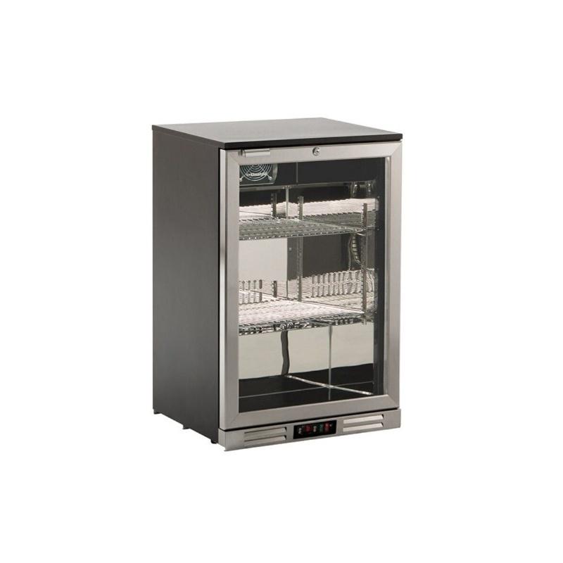 Vitrina frigorifica bauturi Klimaitalia S 98 XH, capacitate 128 l, temperatura 0/+10°C, argintiu