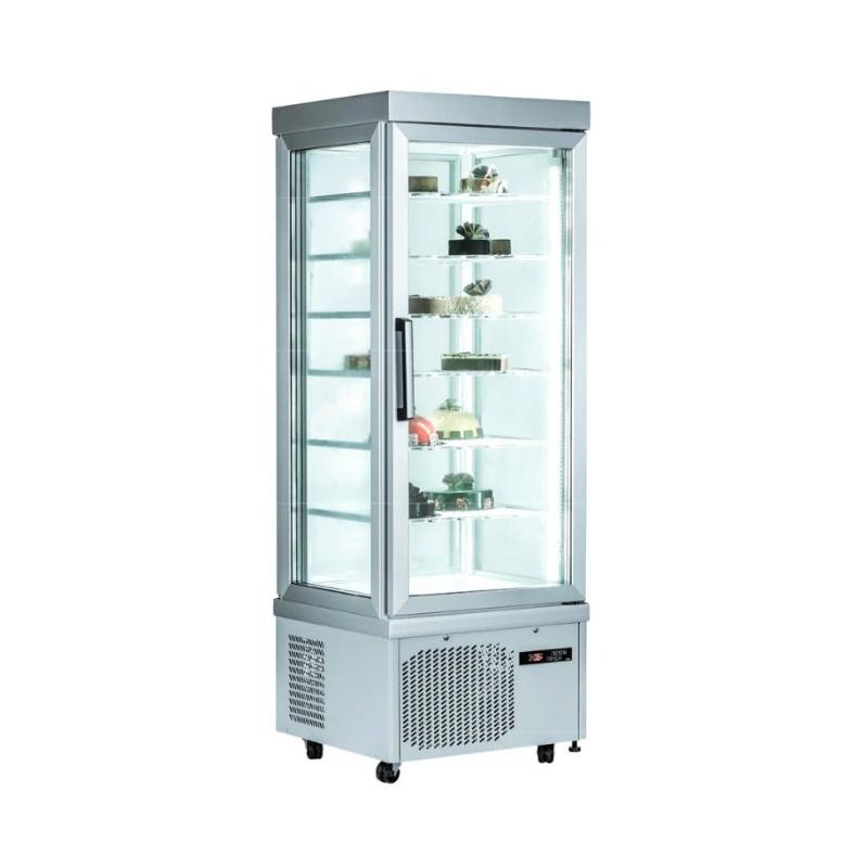 Vitrina frigorifica cofetarie Klimaitalia PSG 67 ST, capacitate 430 l, temperatura -15°C° / -25°C, argintiu