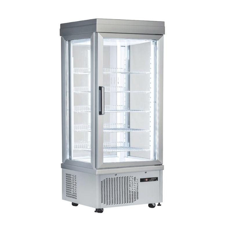 Vitrina frigorifica cofetarie Klimaitalia PSG 90 NFN, capacitate 595 l, temperatura +5°C / -25°C, argintiu