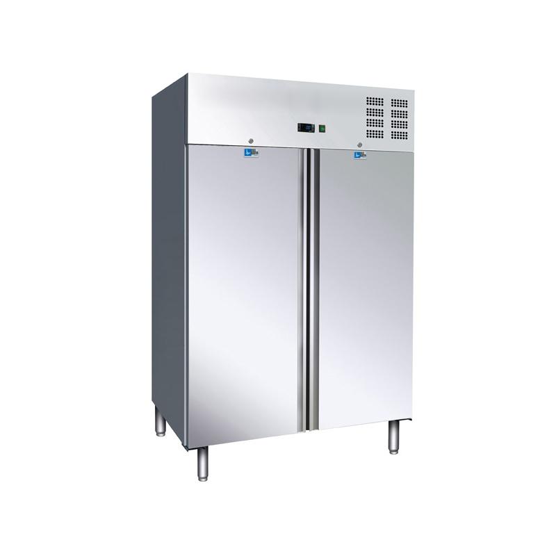Frigider profesional Tecfrigo AK 1000 PTS, capacitate 967 litri, 2 usi, -2/+8°C, inox