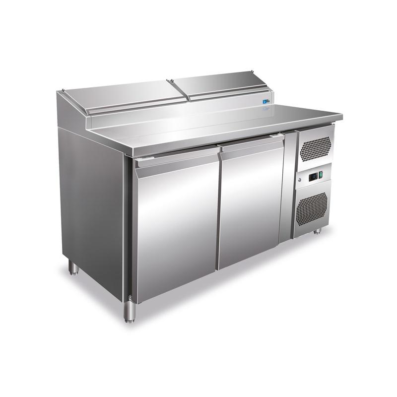 Masa rece pentru fastfood Tecfrigo Fastfood FA 136/70, cu 2 usi, putere 350W, +2+8°C, inox
