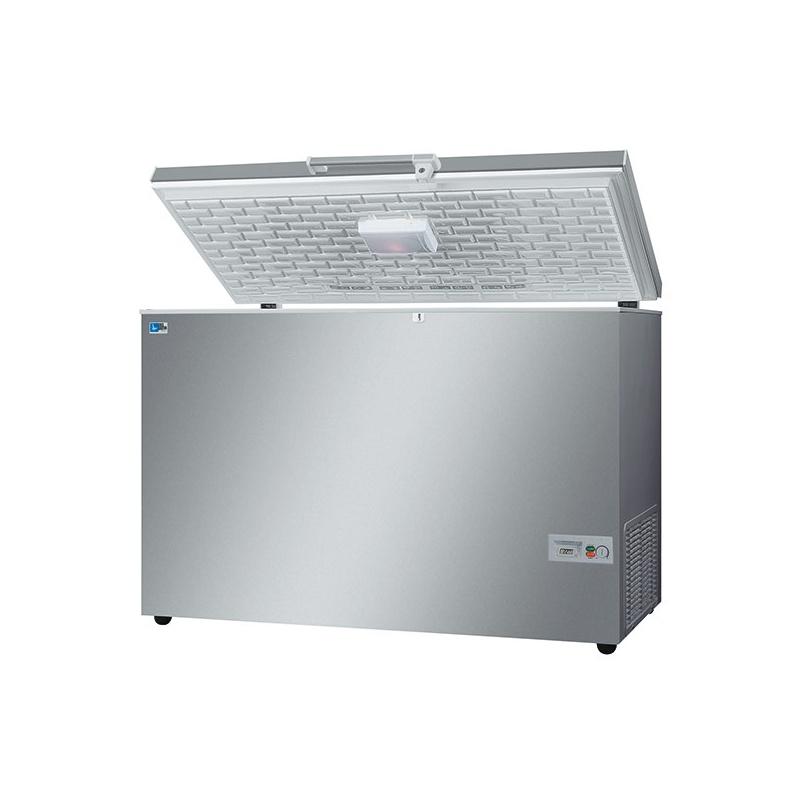 Lada frigorifica Tecfrigo ABX 396, putere 145 W, 362 litri, lungime 126 cm, -17/-24, argintiu