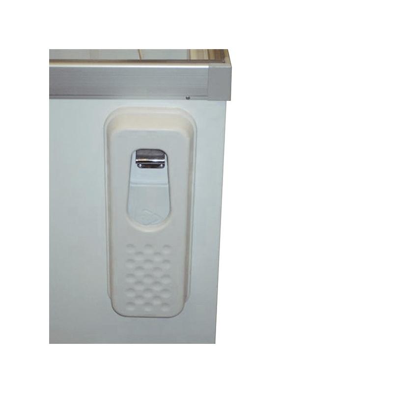 Lada frigorifica Tecfrigo FKGR 403, cu geamuri glisante,putere 260 W, capacitate307 litri, lungime 126 cm, +3/+10, alb