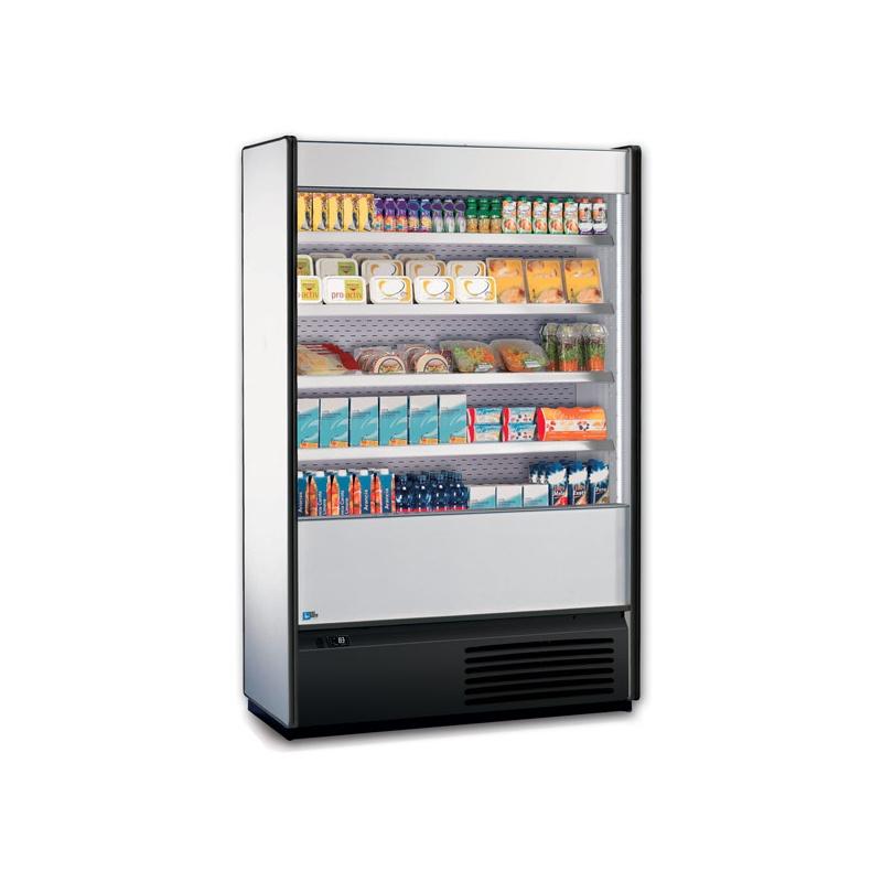 Vitrina frigorifica supermarket Tecfrigo Baby 120, 2200 W, lungime 126.5 cm, +4/+8, alb
