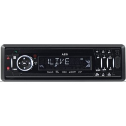 Radio auto cu cd, AEG AR 4021 BT, Mp3 , Black