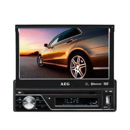 "Radio stereo cu cd, AEG AR 4026 DVD , 7"" Display, Black"