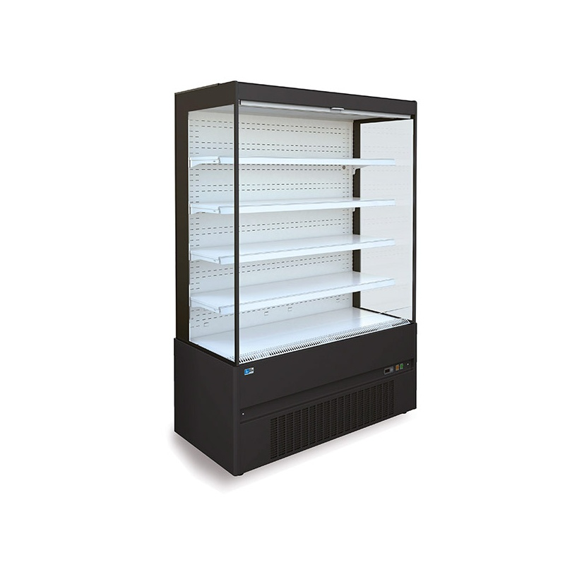 Vitrina frigorifica supermarket Tecfrigo Space 131.1, 1910 W, lungime 131 cm, +2/+4, negru