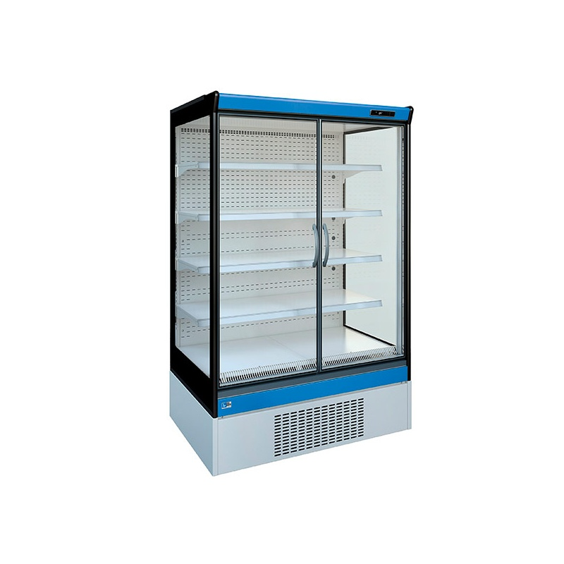 Vitrina frigorifica supermarket Tecfrigo Shuttle 190 PT, 1520 W, lungime 193.5 cm, +2/+4, albastru