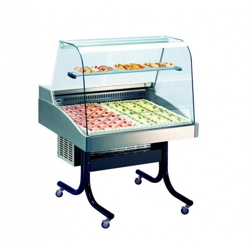 Vitrina expunere cofetarie Tecfrigo DELICIOUS 1300 Euronorm CV, putere 480 W, lungime 131.3, temperatura +2/+4°C, inox
