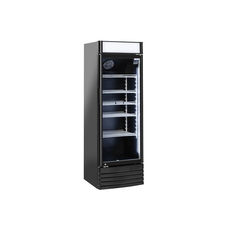 Vitrina frigorifica Cool Wise DC 328CB, Capacitate 300 L, 1 zona de temperatura +1° ~ +10°C,negru