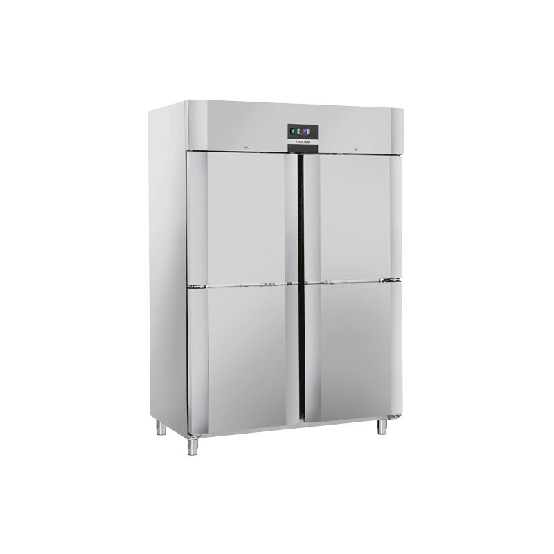Congelator profesional Cool Head QNM 14, cu 4 usi, capacitate 1105 L, temperatura -18°C/ -22°C , inox