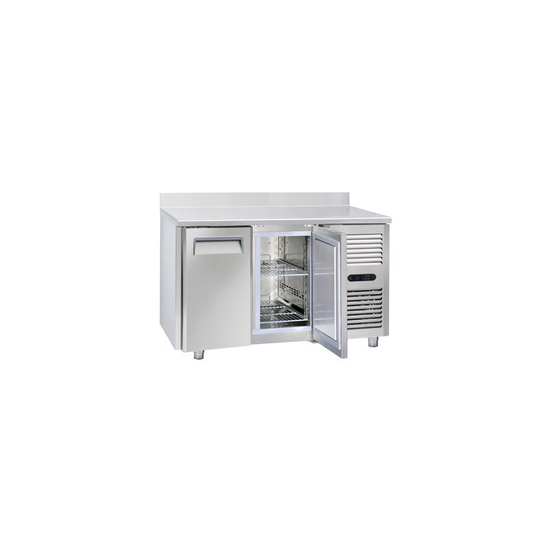 Masa rece cu rebord Cool Head CN 2100, capacitate 210 l, lungime 138 cm, temperatura -18°/ -22°C, inox