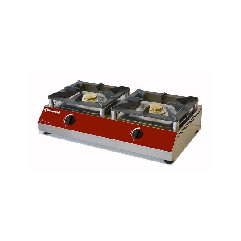 Aragaz profesional pe gaz Diamond RECH/2G-N cu 2 arzatoare