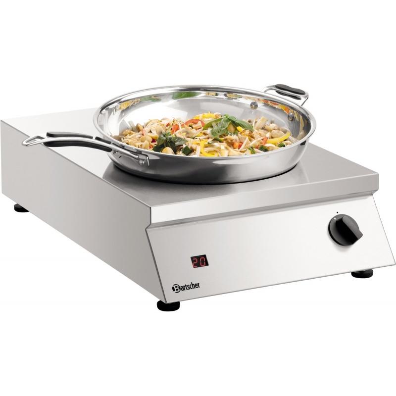 Aragaz electric cu inductie 35/293-FL Bartscher un arzator wok