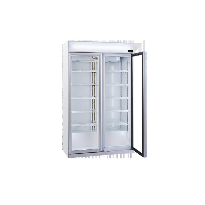 Vitrina frigorifica cu caseta luminoasa Cool Wise DC 1050C, capacitate 1050 L, temperatura -1° ~ +10°C, alb