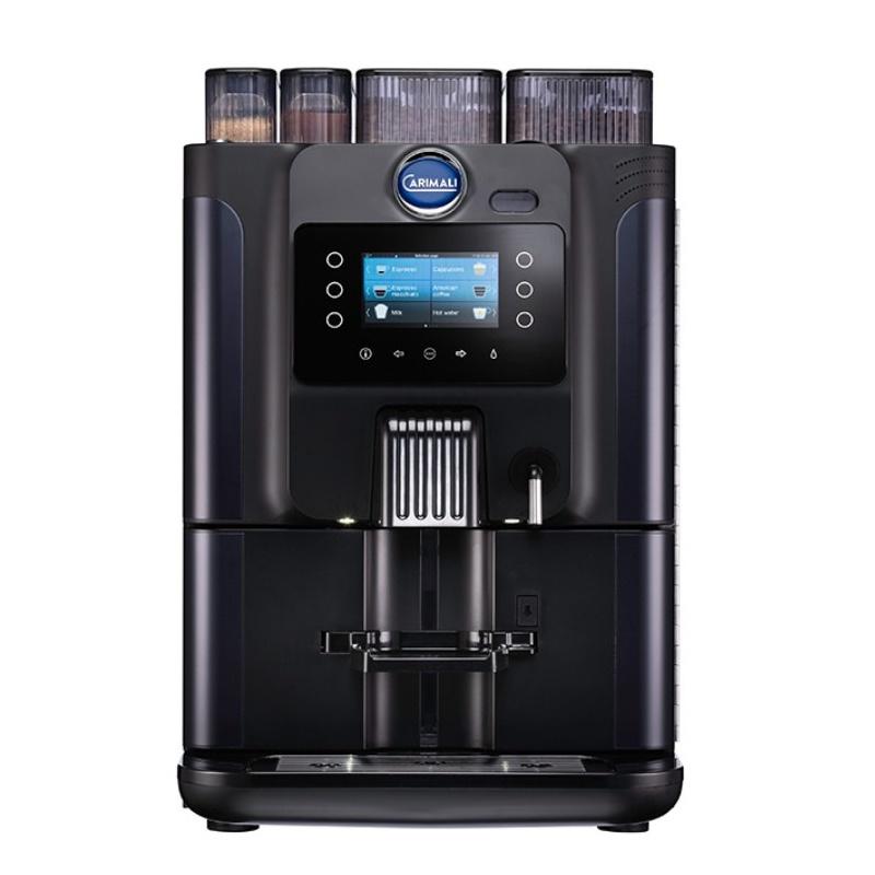 Automat de cafea Carimali Blue Dot.4 display 4K 2 rasnite rezervor apa negru mat