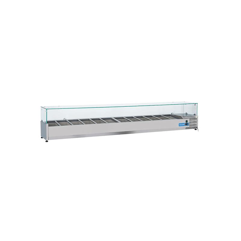 Vitrina frigorifica expunere ingrediente Cool Head VRX 25/38, capacitate 93 l, lungime 220 cm, temperatura +2°/ +8°C, inox
