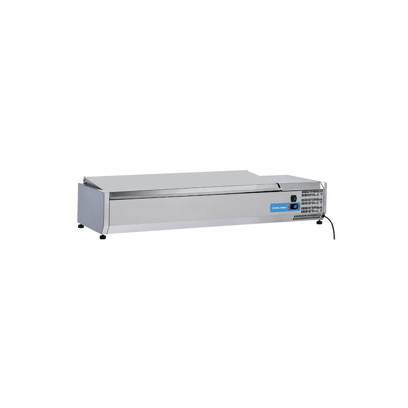 Vitrina frigorifica expunere ingrediente Cool Head VRX 15/38S/S, capacitate 58 l, lungime 150 cm, temperatura +2°/ +8°C, inox
