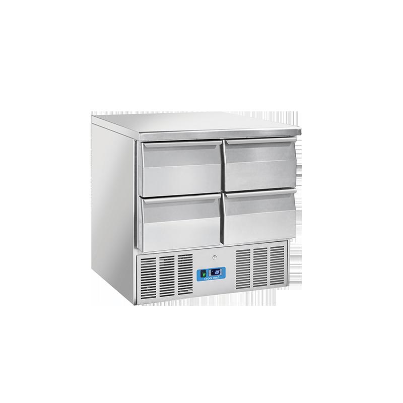 Masa rece saladeta Cool Head CRD 94A, capacitate 214 l, lungime 90 cm, temperatura 0°/ +8°C, inox