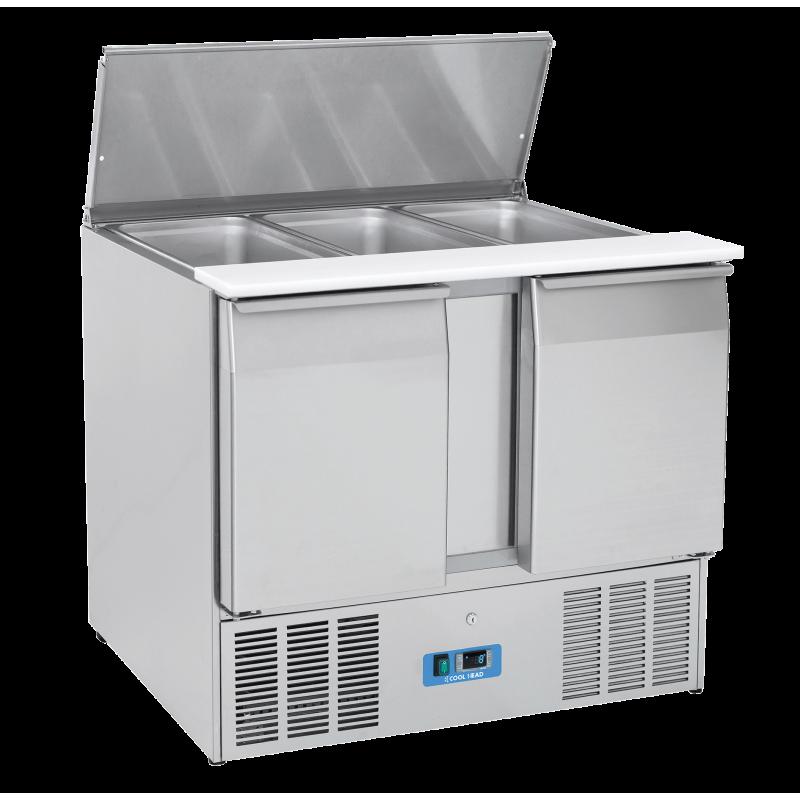 Masa rece saladeta Cool Head CR 92A, capacitate 269 l, lungime 104.5 cm, temperatura 0°/ +8°C, inox