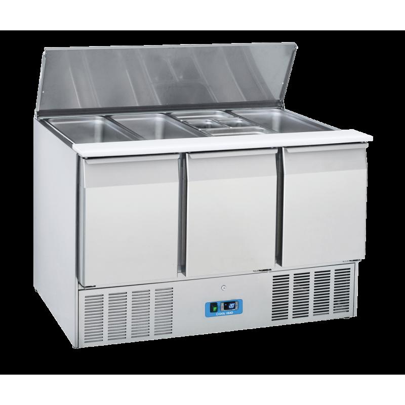 Masa rece saladeta Cool Head CR 93A, capacitate 350 l, lungime 136.5 cm, temperatura 0°/ +8°C, inox