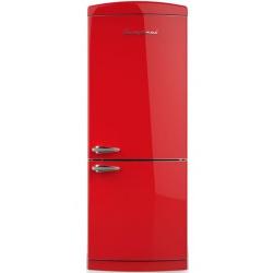 Combina Retro Bompani, Clasa A+, 415 litri, Latime 70 cm, Rosu