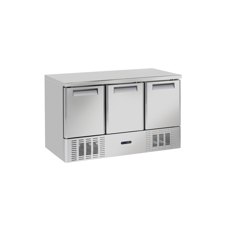 Masa rece Cool Head CNX 93V cu 3 usi, capacitate 370 l, lungime 138.6 cm, temperatura -15°/ -22°C, inox