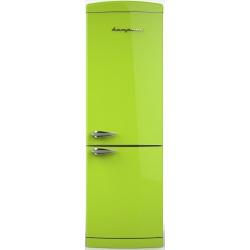 Combina frigorifica Retro Bompani BOCB691/V, Clasa A+, 316 litri, Latime 60 cm, Verde